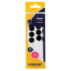 Korbond - Hook & Loop Handy Dots Black & White - 12 Pack - RKL Tools & Hardware