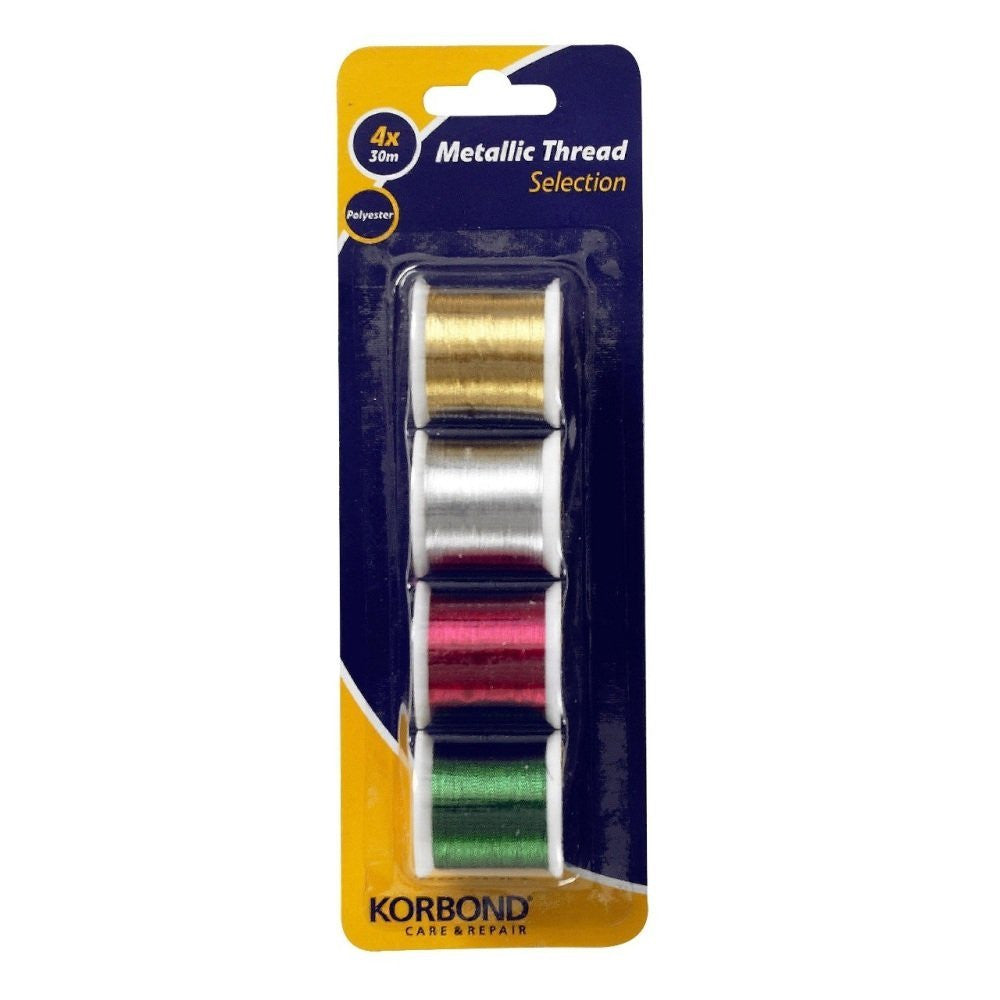 Korbond - Metallic Thread Selection 4x30m - RKL Tools & Hardware