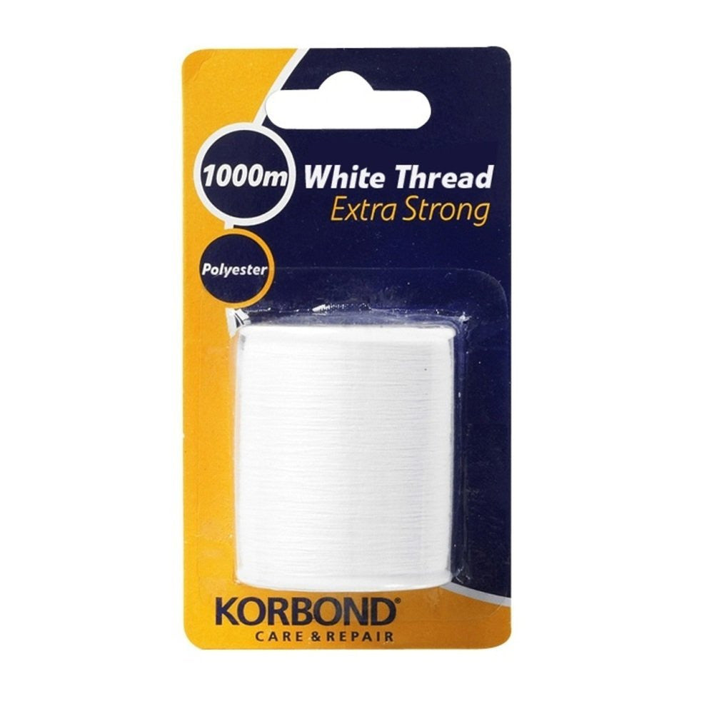 Korbond - Extra Strong White Thread - 1000 Meters