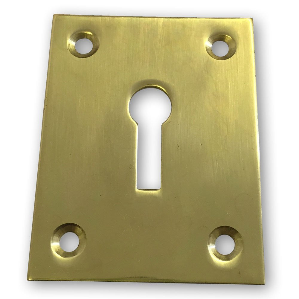 Solid Brass Escutcheon - 43mm x 56mm (Pack of 1)