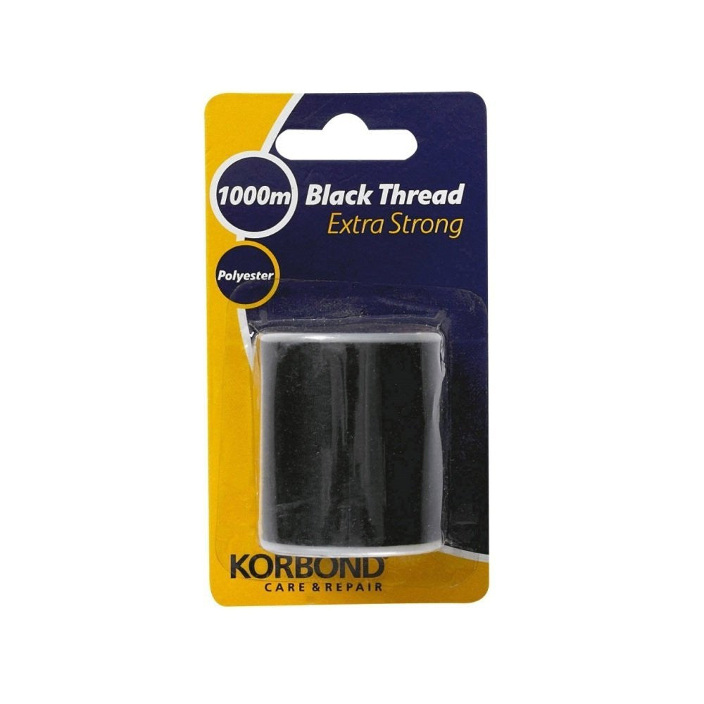 Korbond - Extra Strong Black Thread - 1000 Meters