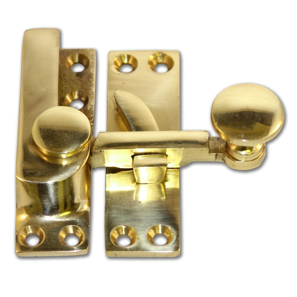 Solid Brass Arm Sash Window Fastener (Pack of 1)