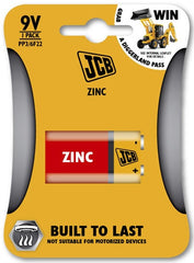 JCB - Zinc Carbon Batteries - 9v - Pack of 1 - RKL Tools & Hardware