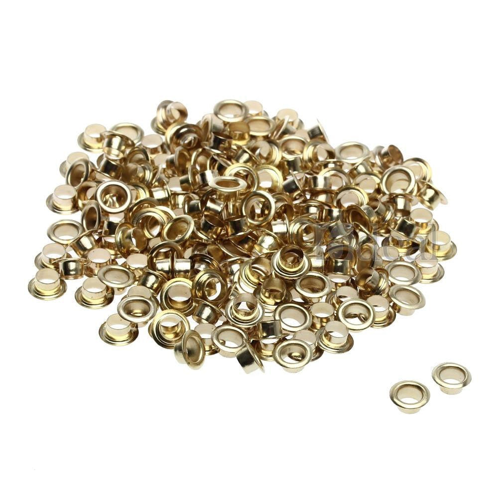 Toolzone - Brass Plated Steel - 200 Eyelets