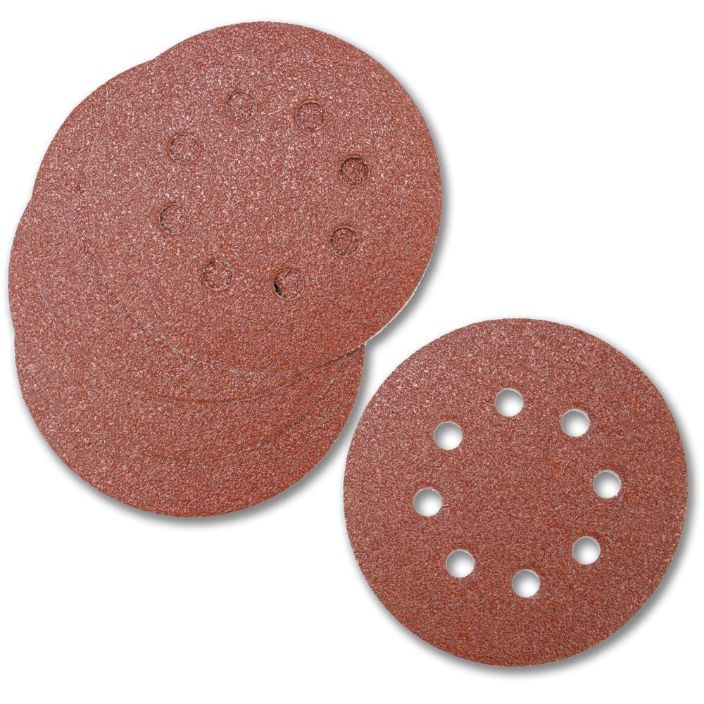 Toolzone - 125mm Velcro Backed Round Orbital Sanding Discs (Pack of 5)