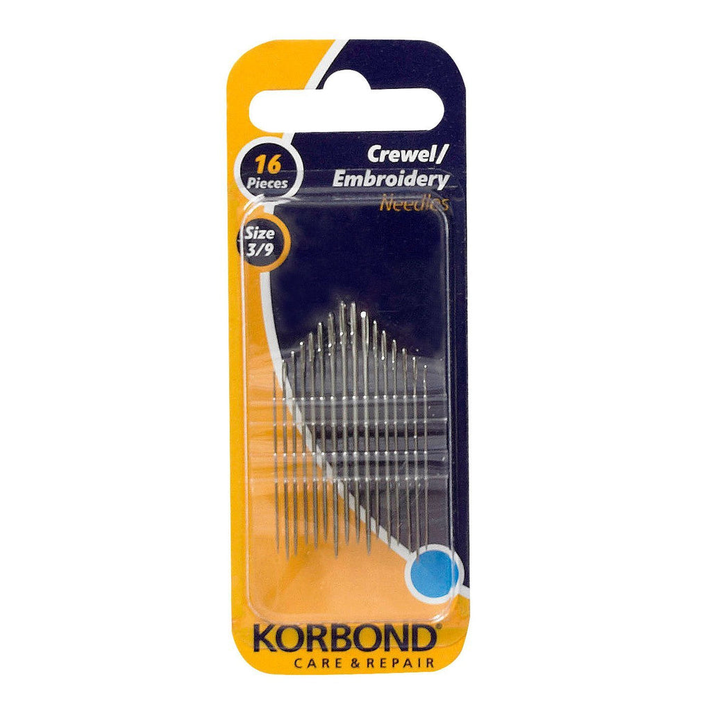 Korbond - 16 Piece Crewel / Embroidery Needles