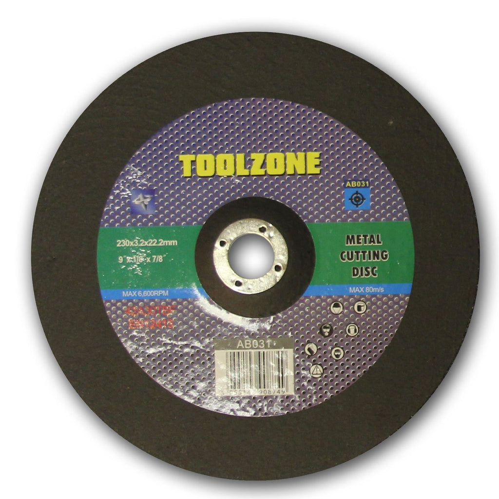 "Toolzone - Metal Cutting Disc - 230mm (9"")"