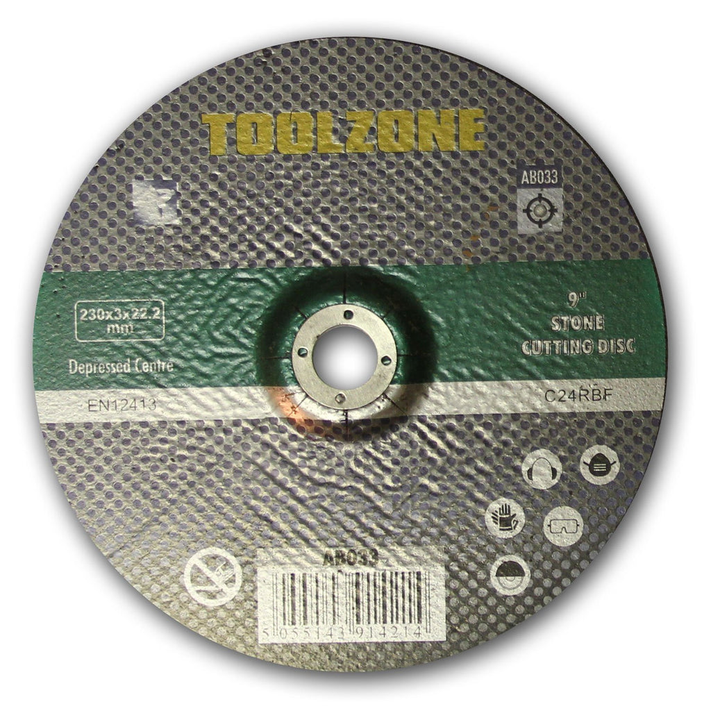 "Toolzone - Stone Cutting Disc - 230mm (9"")"