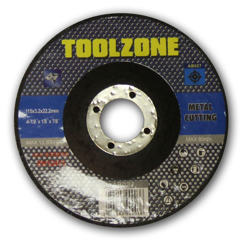 "Toolzone - Metal Cutting Disc - 115mm (4 1/2"")"