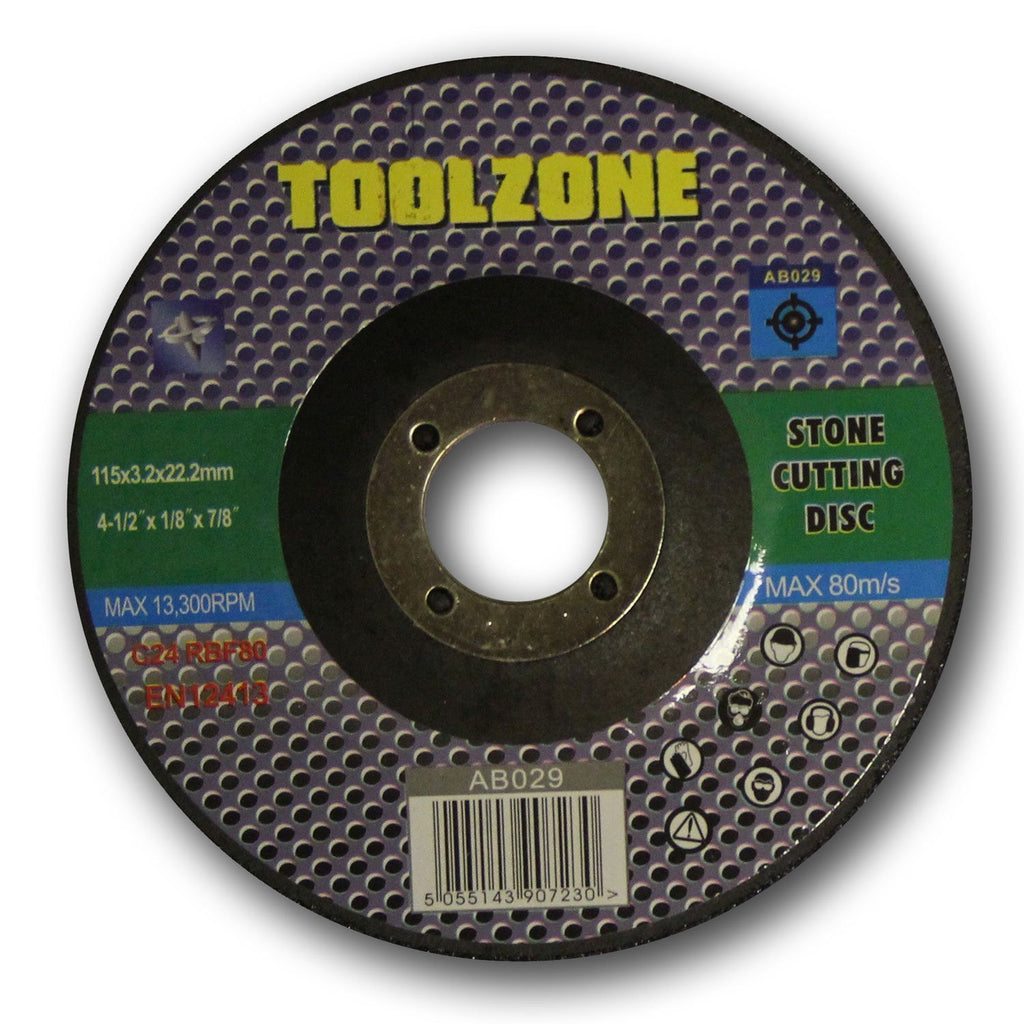"Toolzone - Stone Cutting Disc - 115mm (4 1/2"")"