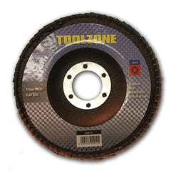 Toolzone - Aluminium Oxide Sanding Flap Disc - 115mm - 80 Grit - RKL Tools & Hardware  - 1