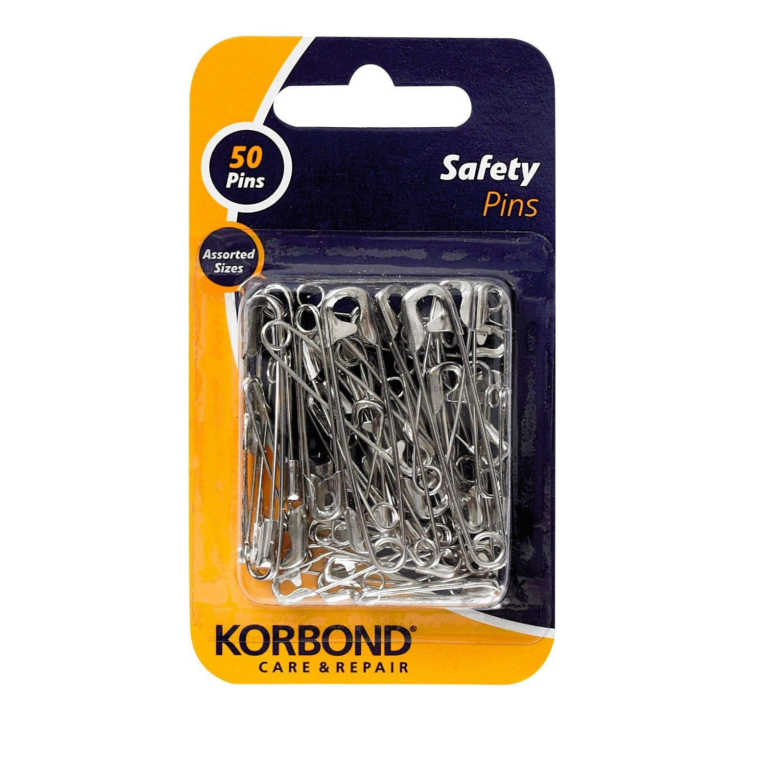 Korbond - 50 Piece Safety Pin Pack - RKL Tools & Hardware