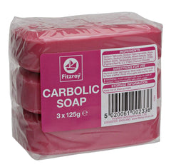 Fitzroy Carbolic Soap (3x 125g Bars)