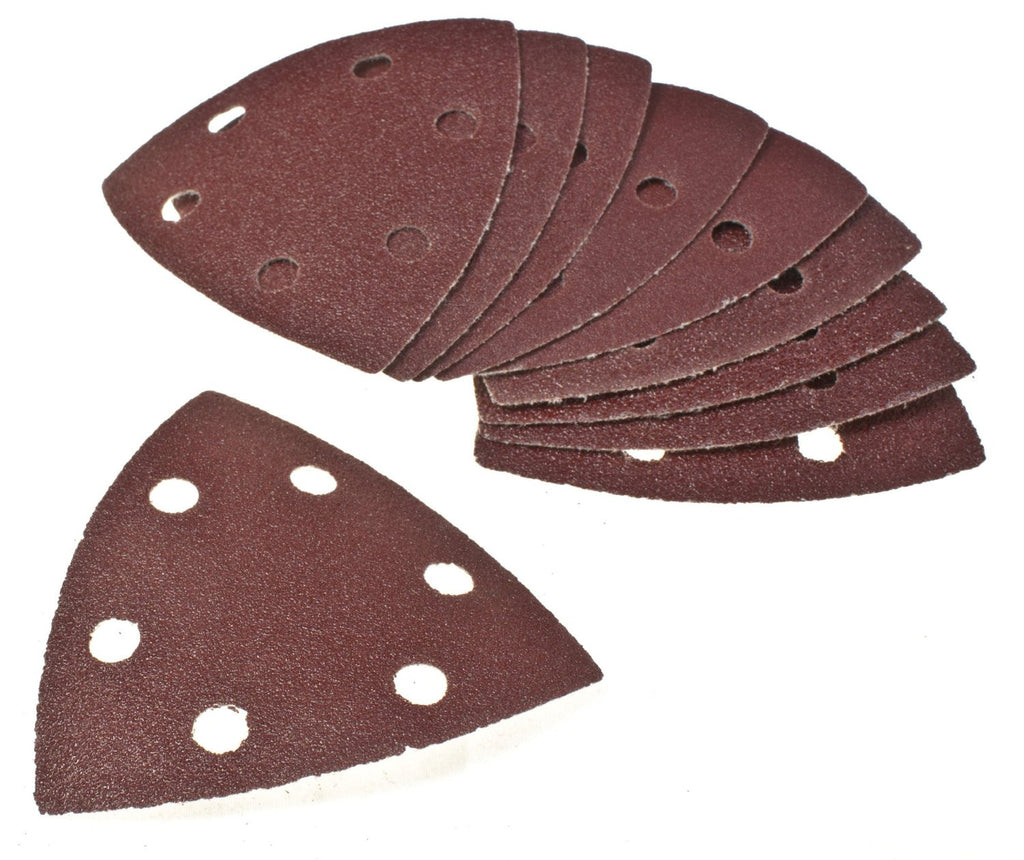 Toolzone - 90mm Velcro Backed Delta Sanding Pads (Pack of 10)