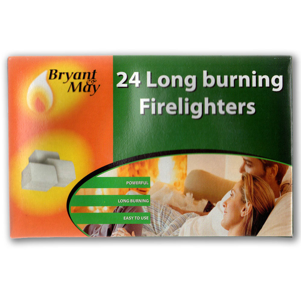 Bryant & May - Long Burning Fire Lighters (Pack of 24)