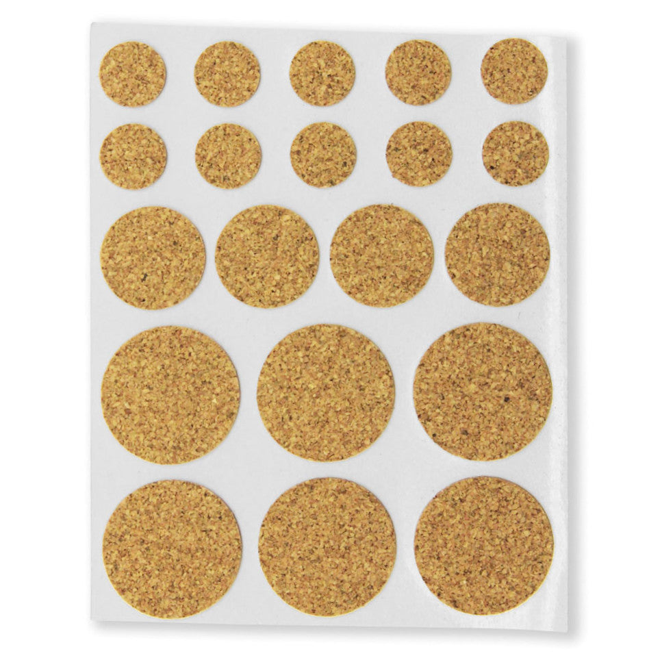 Cork Furniture Pads   Round (Pack Of 20)