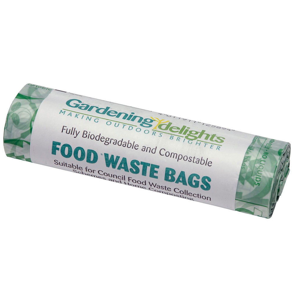 Compostable Food Caddy Waste Liner Bags - 7 Litre - Roll of 52