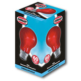 Eveready GLS Fire Glow Bulb - Red - Bayonet Cap B22 - RKL Tools & Hardware  - 3