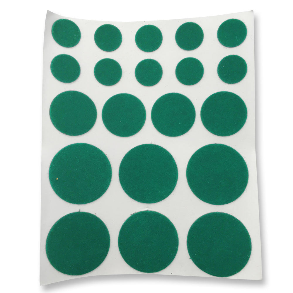 Green Thin Felt Pads - Round (Pack of 20)