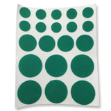 Green Thin Felt Pads - Round (Pack of 20) - RKL Tools & Hardware