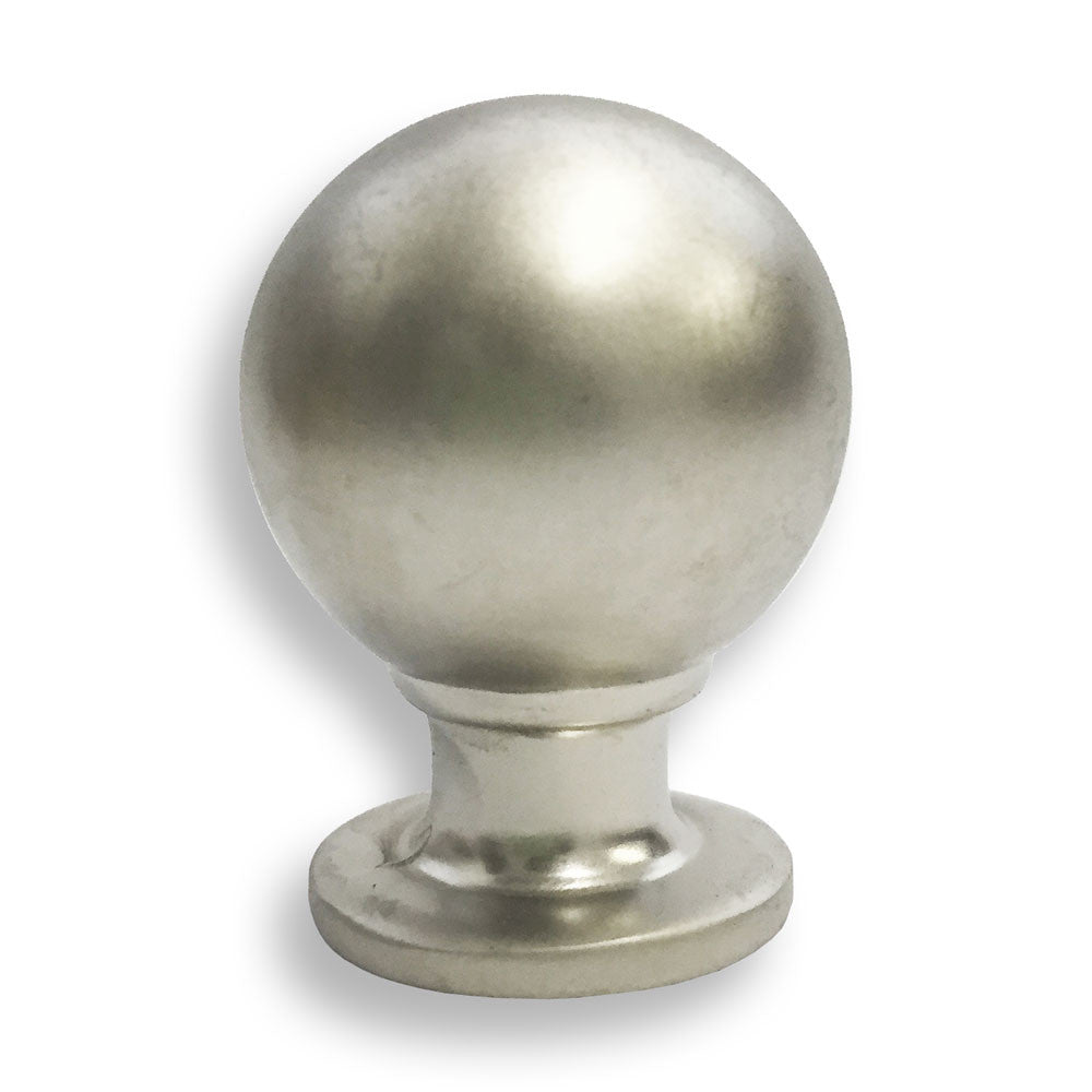 Matt Chrome Ball Pull Knob - 25mm - RKL Tools & Hardware  - 1
