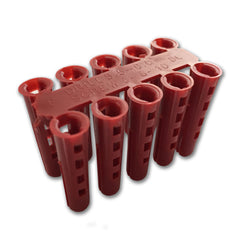 Plastic Wall Plugs - Red