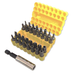Toolzone - 33 Piece Tamper Proof Security Screwdriver Bit Set with Holder - RKL Tools & Hardware