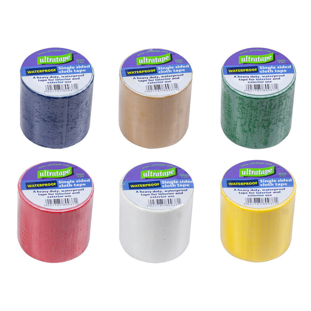 Ultratape - Coloured Waterproof Cloth Tape - 4.5m x 50mm