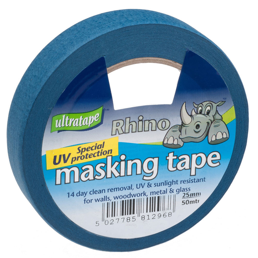Ultratape - Blue UV Protection Masking Tape - 25mm x 25m