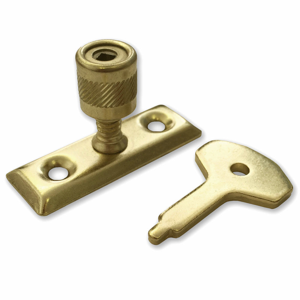 Electro Brass Window Casement Stay Lock - RKL Tools & Hardware
