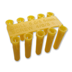 Yellow Plastic Wall Plugs