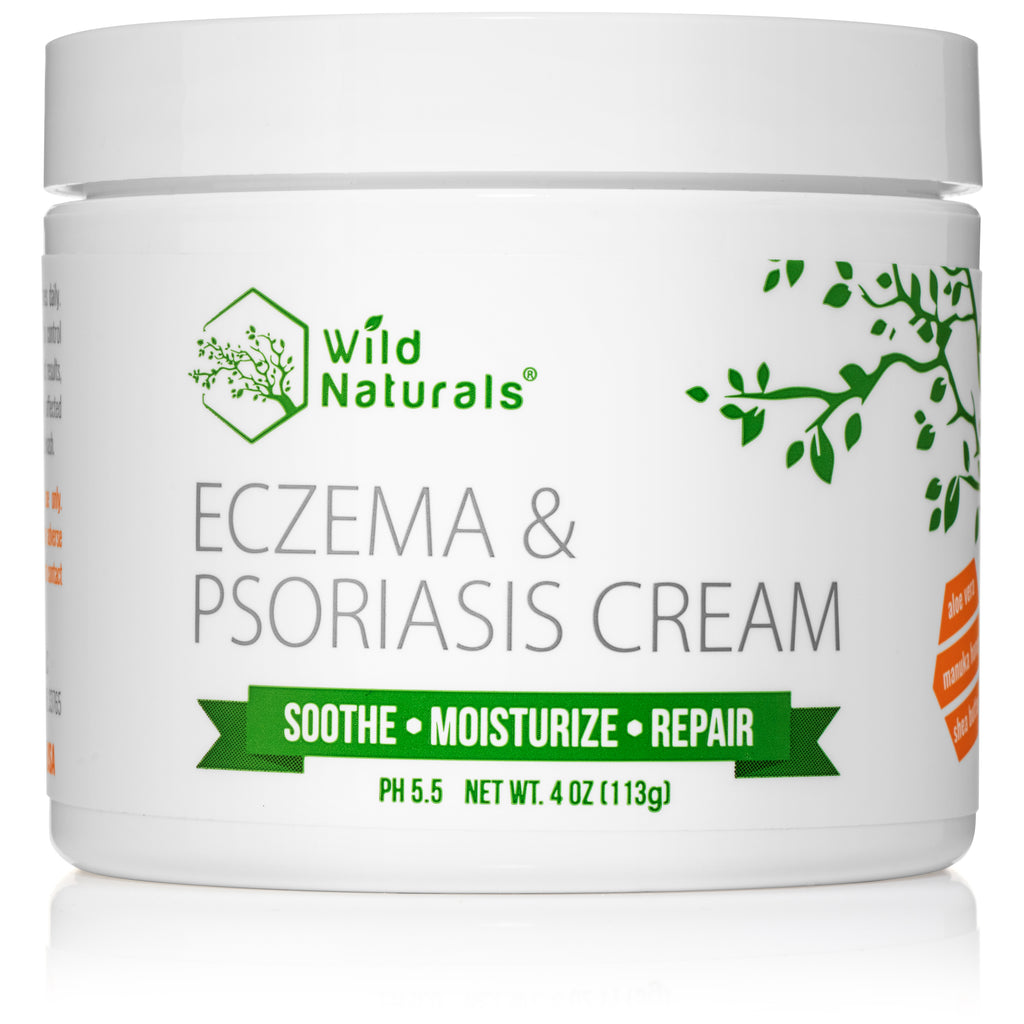 Wild Naturals Eczema & Psoriasis Cream 4 Ounce Soothe Itchy Flaky Dry Irritated Skin Fast