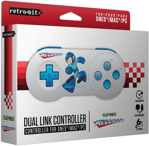 Retro-Bit Megaman Dual Controller compatible with SNES and USB |