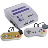 Hamy HD console compatible with Nintendo NES and SNES carts |