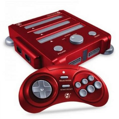 Hyperkin Retron 3 console compatible with NES, SNES and Megadrive games |
