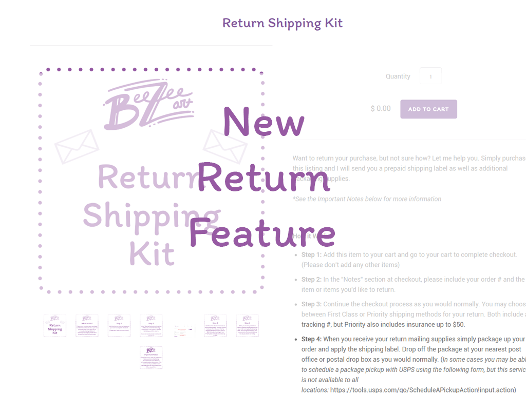 New Return Feature: Return Shipping Kit