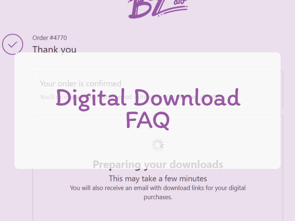Digital Download FAQ