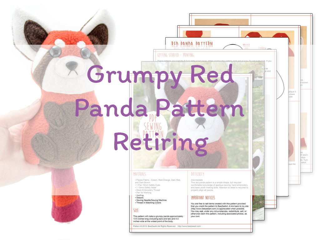 Grumpy Red Panda Pattern Retiring Soon!