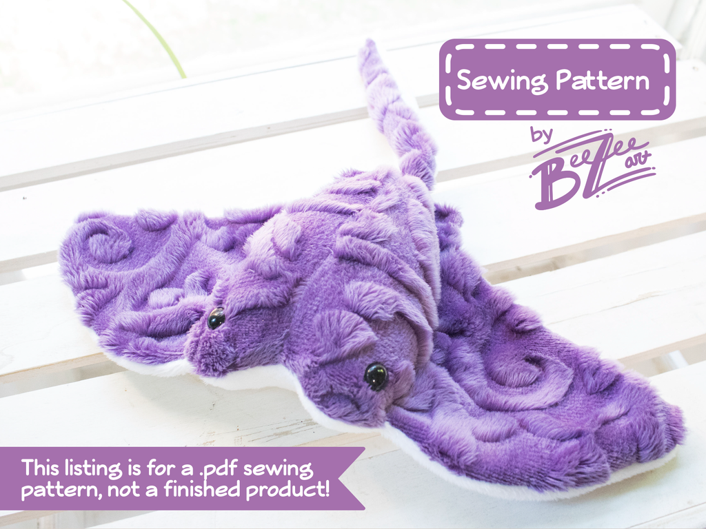 Stingray Stuffed Animal Sewing Pattern - Digital Download