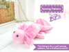 Axolotl Stuffed Animal Sewing Pattern - Digital Download, Pattern, BeeZeeArt