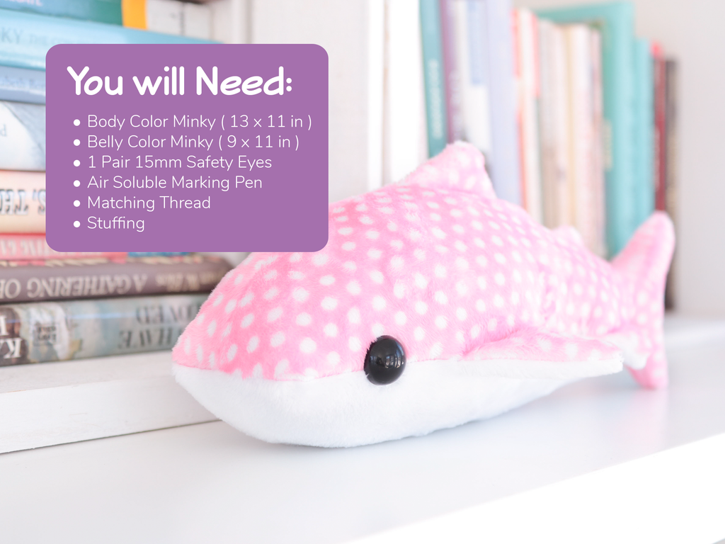 Whale Shark Sewing Pattern - Digital Download