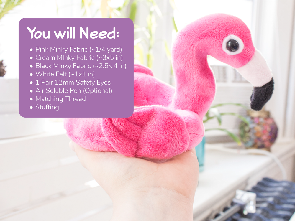 Flamingo Floaty Stuffed Animal Sewing Pattern, Plush Sewing Pattern, DIY - Digital Download