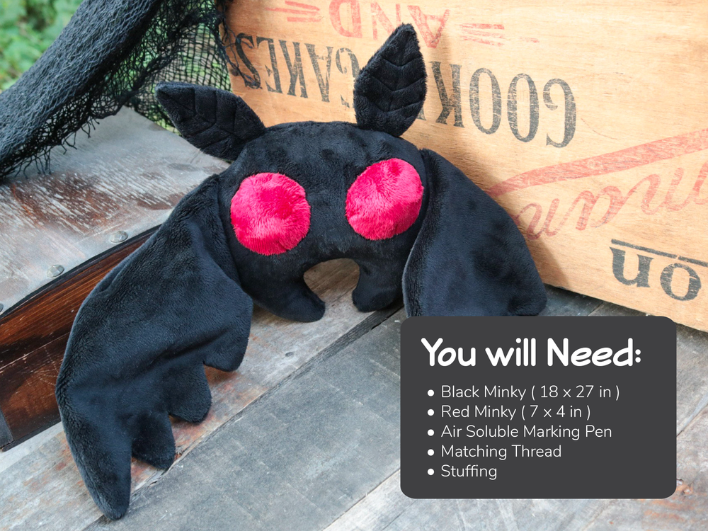 Mothman Plush Sewing Pattern - Digital Download