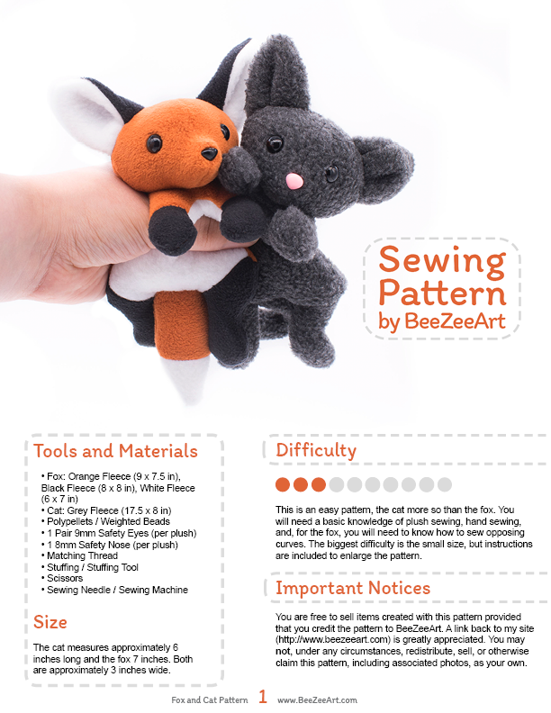 Sewing Plushie Easy Pattern Animal Pictures | www.picturesboss.com