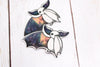 Galaxy Bat Sticker - Waving One Wing in White