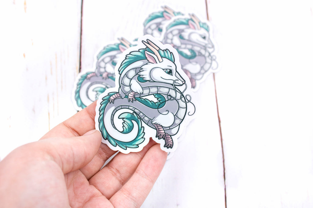 Haku Sticker, Spirited Away Dragon, Vinyl Sticker, 3 Inches, Stickers, BeeZeeArt