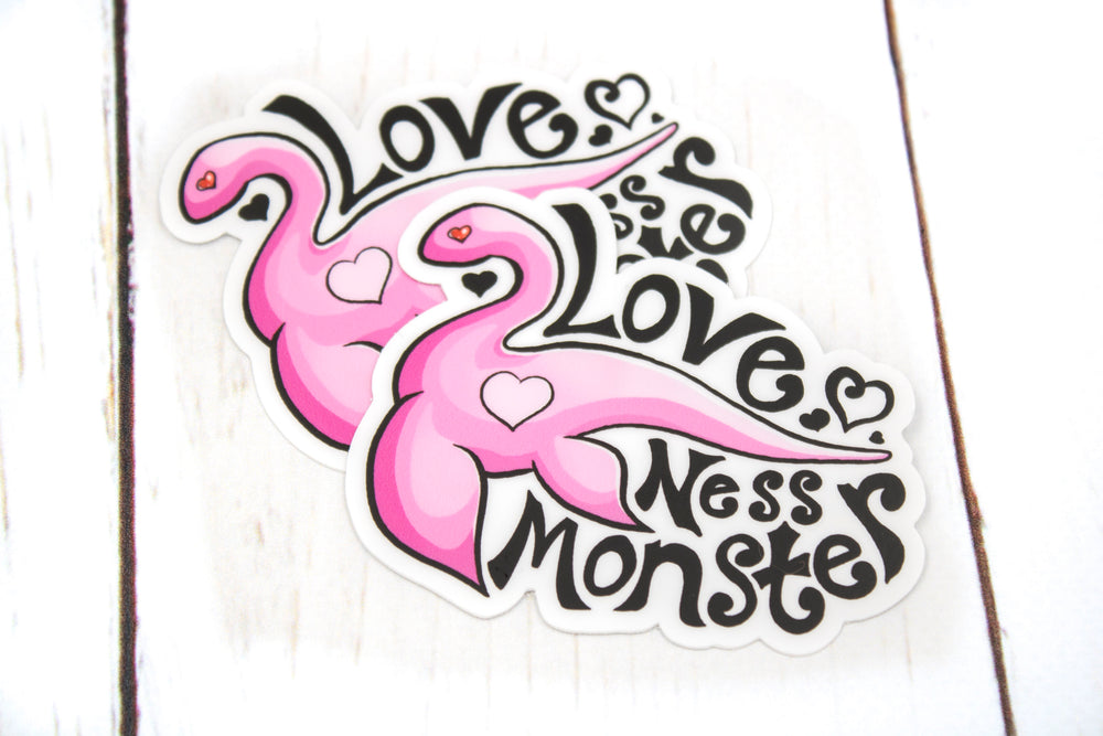 Love Ness Monster Sticker, Loch Ness Monster, Nessie, Vinyl Sticker, 3 Inches, Stickers, BeeZeeArt