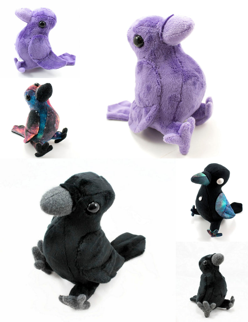 Crow Stuffed Animal Sewing Pattern  - Digital Download