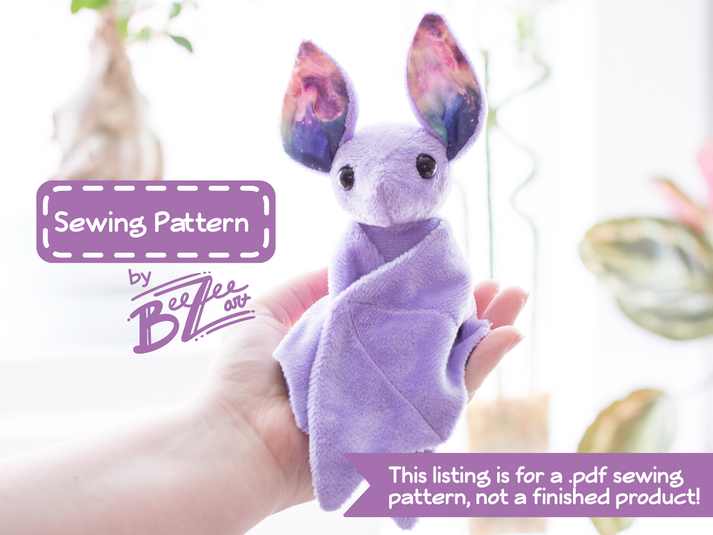 Bat Stuffed Animal Sewing Pattern - Digital Download