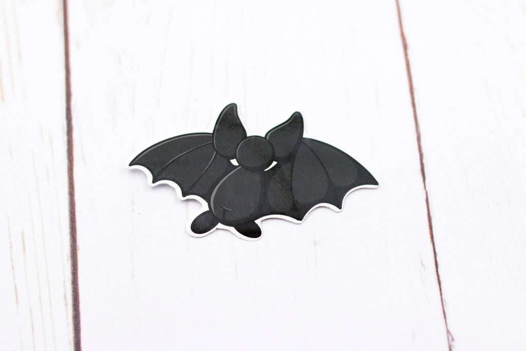 Bat Sticker - Black Bat Back, Cute Sticker, Kawaii, Vinyl Sticker